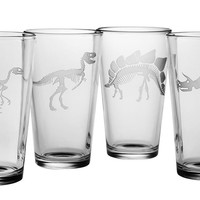 Jurassic Dinosaur Pint Glasses
