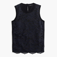 J.Crew Womens Lace Panel Top