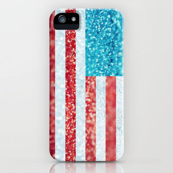Red, White, and Glitter (Photo of Glitter) iPhone Case by Beth - Paper Angels Photography | Society6