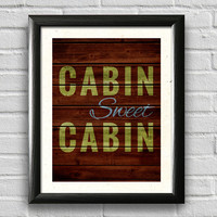 Cabin Decor, Typography Poster, Wall Art, Rustic Decor, Lake Decor, Wood Art, Home Decor