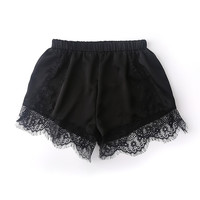 Casual Shorts High Waist Lace Short Pants