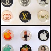 12x Bubble Home Button Stickers for iPhone iPad iPod (2Packs) iPhone6 5 4