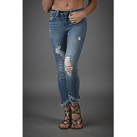 Taylor Distressed Frayed Kan Can Jeans