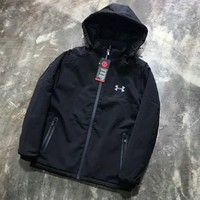 """Under Armour"" Hooded Zipper Cardigan Sweatshirt Jacket Coat Windbreaker Sportswear G-ZDL-STPFYF"