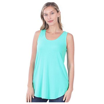 Cozy Me! Relaxed Fit Sleeveless Top - Mint