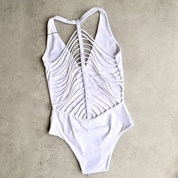 Khongboon - Florina White Strappy One Piece