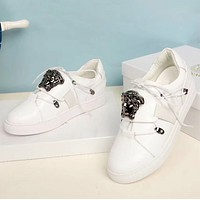 Versace Fashion new running sports women and men shoes White