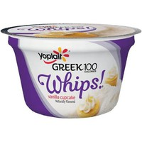 Yoplait? Greek 100 Calories Whips!? Vanilla Cupcake Fat Free Yogurt Mousse 4 oz. Cup - Walmart.com