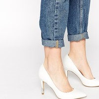 New Look Richard White Heeled Court Shoes