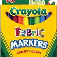 Crayola 10-Pack Fabric Markers   AihaZone Store