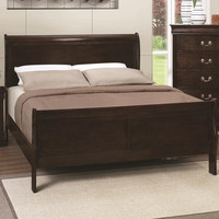 Louis Philippe 202 Twin Panel Sleigh Bed-All Sizes In Stock