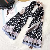 Supergirls22 LV Newest Popular Louis Vuitton Comfortable Smooth Silk Cashmere Cape Scarf Scarves Shawl Accessories