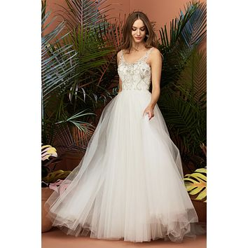 Wtoo by Watters 11705 Constanza SAMPLE SALE Size 12 Beaded Illusion Bodice Ball Gown Wedding Dress