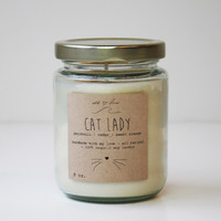 """Cat Lady"" Soy Candle"