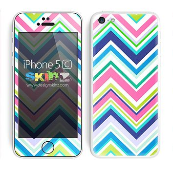 Multiple Color Chevron Pattern V2 Skin For The iPhone 5c