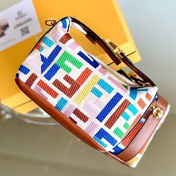 Onewel Fendi old flower baguette small print limited edition lunch box bag