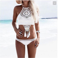 Knit Tassel Sexy Bikini Swim-wear a12879
