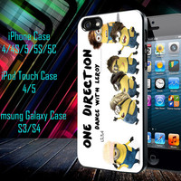 One Direction Minions Samsung Galaxy S3/ S4 case, iPhone 4/4S / 5/ 5s/ 5c case, iPod Touch 4 / 5 case