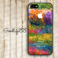 Custom iphone 5 case iphone 5 cover iphone 5 cases Hard case--colorized Oil painting imageand skin unique design printing