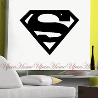 Wall Sticker Superman Logo Home Decal Decor Kids Room Decor Mural W179 = 1945850372