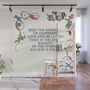 Tolstoy speaks Wall Mural by anipani