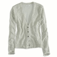 AE Reverse Ribbed Cardigan, Mint   American Eagle Outfitters