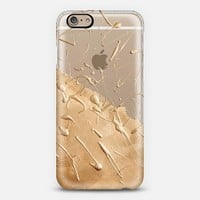 Rose Gold Rain (transparent) iPhone 6 case by Lisa Argyropoulos | Casetify