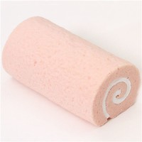 big pale pink sponge roll strawberry cake squishy - Squishies - Accessories
