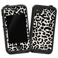 """Black and White Leopard """"Protective Decal Skin"""" for LifeProof 4/4S Case:Amazon:Cell Phones & Accessories"""