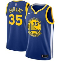 Kevin Durant Golden State Warriors # 35 Nike Blue Swingman Icon Edition Jersey - Best Deal Online