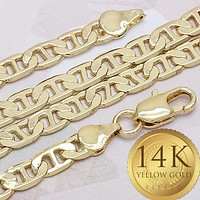 Gold Tone Men Mariner Basic Bracelet, by Folks Jewelry