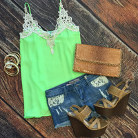 Teach Them New Tricks Top: Lime