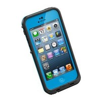 LifeProof FRE iPhone 5 Waterproof Case - Retail Packaging - CYAN/BLACK