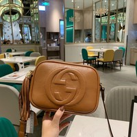 HCXX 19Oct 073 Gucci Ophidia Classic Fashion Shoulder Strap Crossbody Pouch Tassel Sling Bag 20-15cm