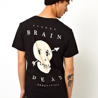 Afends   Afends Brain Dead T-shirt With Back Print at ASOS