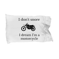 Funny Pillowcase Adult Bedding Linen Pillow Cover Gift for Him Her I Don't Snore standard