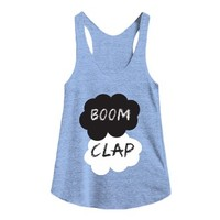 Boom Clap-Female Athletic Blue Tank