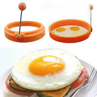 Silicone Round Shape Omelette Mould Ring Fried Egg Shaper Cooking Kitchen Tool