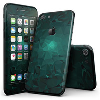 Abstract Teal Geometric Shapes - 4-Piece Skin Kit for the iPhone 7 or 7 Plus