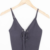 Eliza Lace-Up Tank