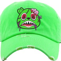 Zombie Baws Neon Green Dad Hat