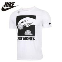 NIKE Original 2017 New Arrival T-shirt Breathable Short Sleeve Round Neck Fiexible Sports Shirt For Men#844475-100