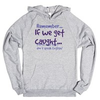 Caught-Unisex Heather Grey Hoodie
