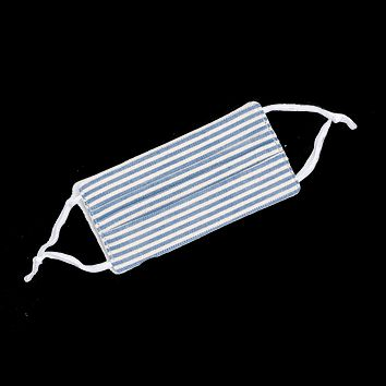 Blue & White Striped Face Mask