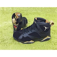 Air Jordan 7 black gold Basketball Shoes 36-47