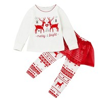 Kids Toddler Baby Girl Letter Outfit Clothes Christmas Costumes