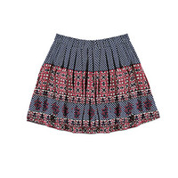 Pleated Mixed-Print Skirt (Kids)