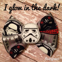 My favorite character inspired feltie bow glow in the dark!