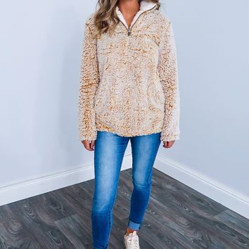 Snuggle Up Pull Over: Dusty Mustard