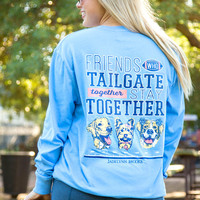 Jadelynn Brooke: Friends Who Tailgate Together L/S Tee {Periwinkle}